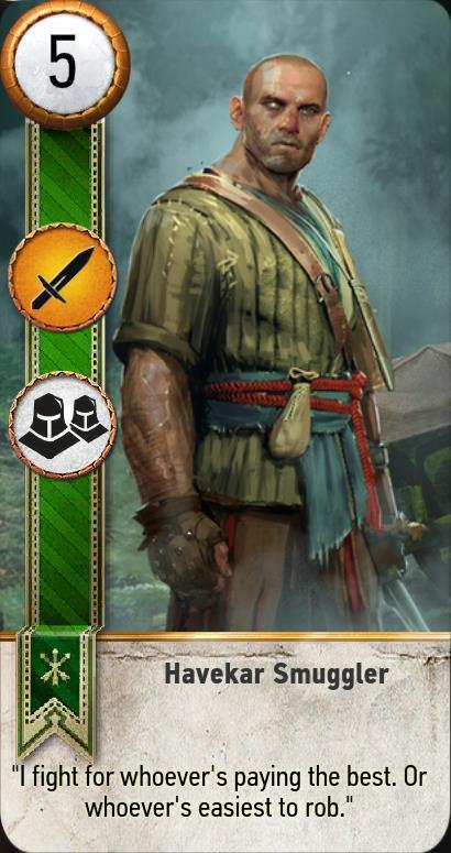 havekar smuggler gwent card  the witcher 3 wiki