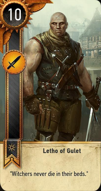 Letho of gulet gwent card the witcher 3 wiki