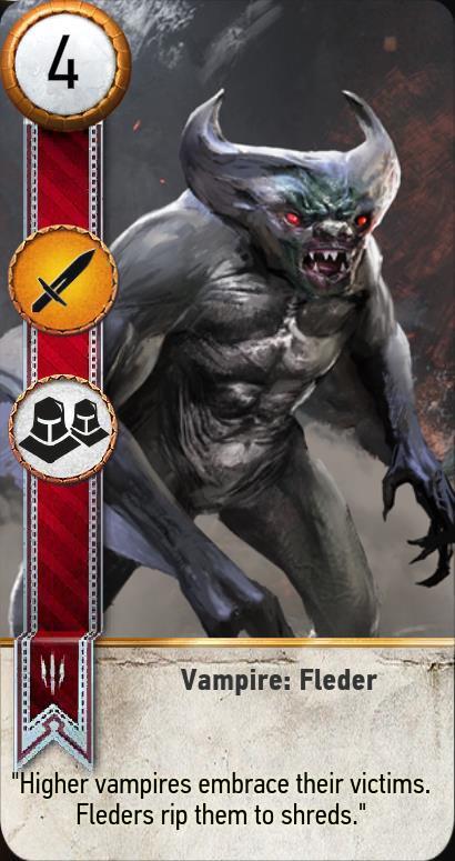 Vampire fleder gwent card the witcher 3 wiki - Ciri gwent card witcher 3 ...